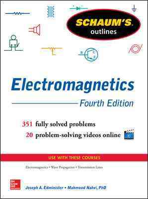 Schaum's Outline of Electromagnetics By Edminister, Joseph